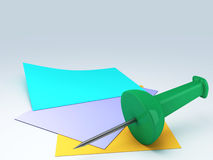 Postit image 3d Stock Photography