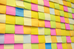 Postit. Many postit put on the board multi color Stock Photo