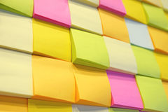 Postit. Many postit put on the board multi color Royalty Free Stock Images