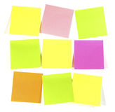 Postit  note. Postit  for reminder note  on the white background Stock Photo
