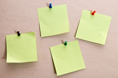 Postit note. Set of yellow memo postit notes Stock Photo