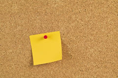 Postit note paper on a bulletin board Stock Photography