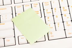 Postit notes on a keyboard Stock Photography