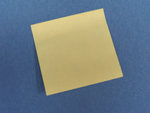 Postit over blue with copy space Royalty Free Stock Photo