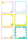 Postit Paper vector. Postit Paper notebook colourful vector Stock Photography