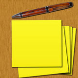 Postit on the table Royalty Free Stock Photos