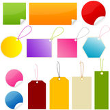Postit tag. Postit post-it sticker  button Royalty Free Stock Images