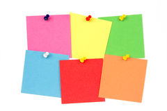 Postit on the wall Stock Images