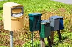 Postkästen Stockfotos