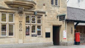 Postkantoor op Hoofdstraat Glastonbury royalty-vrije stock afbeelding