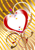Postkard of congratulation.  Valentine day. Royalty Free Stock Photography