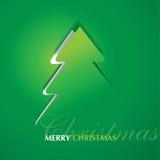 Postkard del árbol de navidad Fotografía de archivo