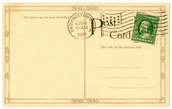 Postkarte - 1911 Stockbild