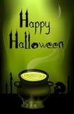 Postkarte auf Halloween. Lizenzfreie Stockfotografie