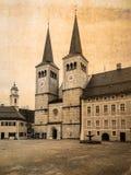Postkarte der alten Stadt von Berchtesgaden im Retro- Blick Lizenzfreies Stockbild