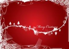 Postkarte der frohen Weihnachten vektor abbildung