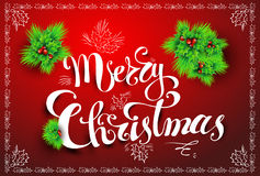 Postkarte der frohen Weihnachten Stockbilder