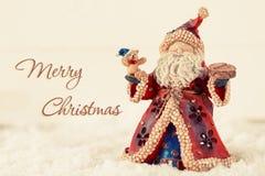 Postkarte der frohen Weihnachten Stockbild
