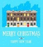 Postkarte der frohen Weihnachten und des guten Rutsch ins Neue Jahr Stockfotos