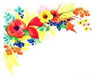 Postkarte der Herbstsaison von den Gärten Lizenzfreies Stockfoto