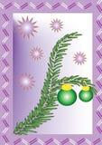 Postkarte des glücklichen neuen Jahres vektor abbildung