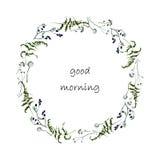 Postkarte des gutenmorgens Stockfotografie
