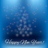 Postkarte des neuen Jahres stock abbildung
