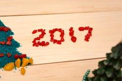 Postkarte 2017 des neuen Jahres Lizenzfreies Stockfoto