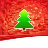 Postkarte des neuen Jahres 2014 und der frohen Weihnachten Vektor Abbildung