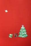 Postkarte für das neue Jahr Lizenzfreies Stockfoto
