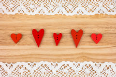 Postkarte für den Valentinsgruß Stockbilder