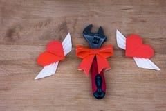 Postkarte für den Valentinsgruß Lizenzfreie Stockfotografie