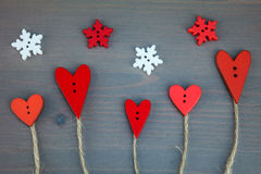 Postkarte für den Valentinsgruß Knopfliebe Lizenzfreie Stockbilder