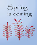 Postkarte für Frühlingsfest Lizenzfreie Stockfotos