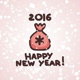 Postkarte für neues Jahr Lizenzfreies Stockfoto