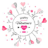Postkarte für Tag des Valentinsgrußes s stock abbildung