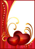 Postkarte für Valentinstag Stockfotografie