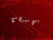 Postkarte ich liebe dich, Valentinstag Stockbild