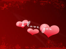 Postkarte ich liebe dich, Valentinstag Lizenzfreie Stockfotos