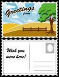 Postkarte, Land-Landschaft Lizenzfreie Stockbilder