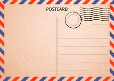 postkarte Luftpost Postkartenillustration für Ihren Entwurf Tr vektor abbildung