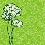 Postkarte mit Blumen Stockbild