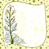 Postkarte mit Blumen Lizenzfreies Stockfoto