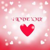Postkarte mit einem Herzen auf einem hellen Hintergrund mit a Lizenzfreies Stockfoto
