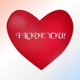 Postkarte mit einem Herzen auf einem hellen Hintergrund mit a Stockfotografie