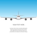 Postkarte mit Flugzeug lizenzfreie abbildung