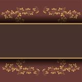 Postkarte mit grafischen Blättern Stockbilder