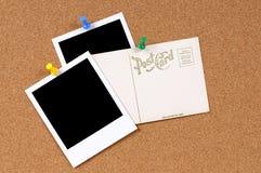 Postkarte mit leeren Fotos Stockbilder