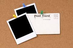 Postkarte mit leeren Fotos Lizenzfreie Stockfotografie