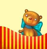 Postkarte mit Teddybären Stockbild